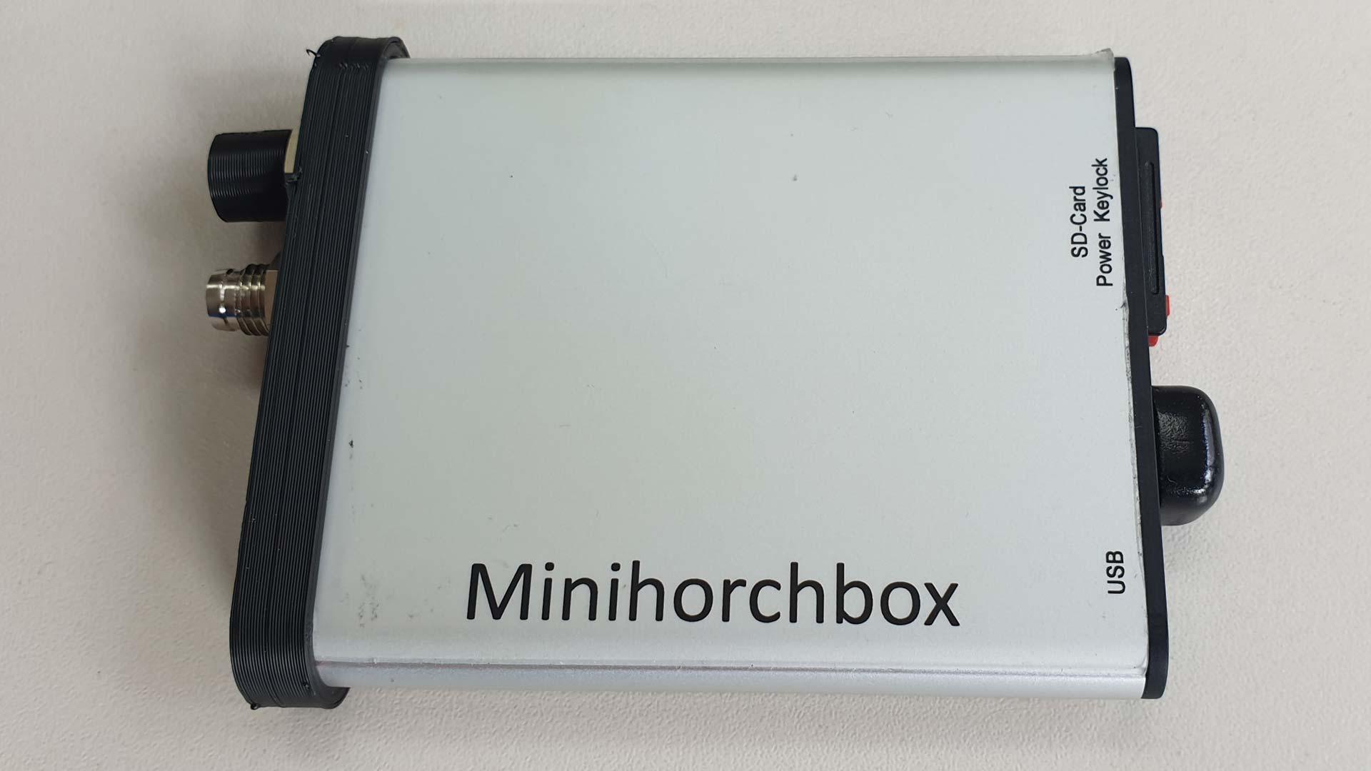 Die Minihorchbox von vorne